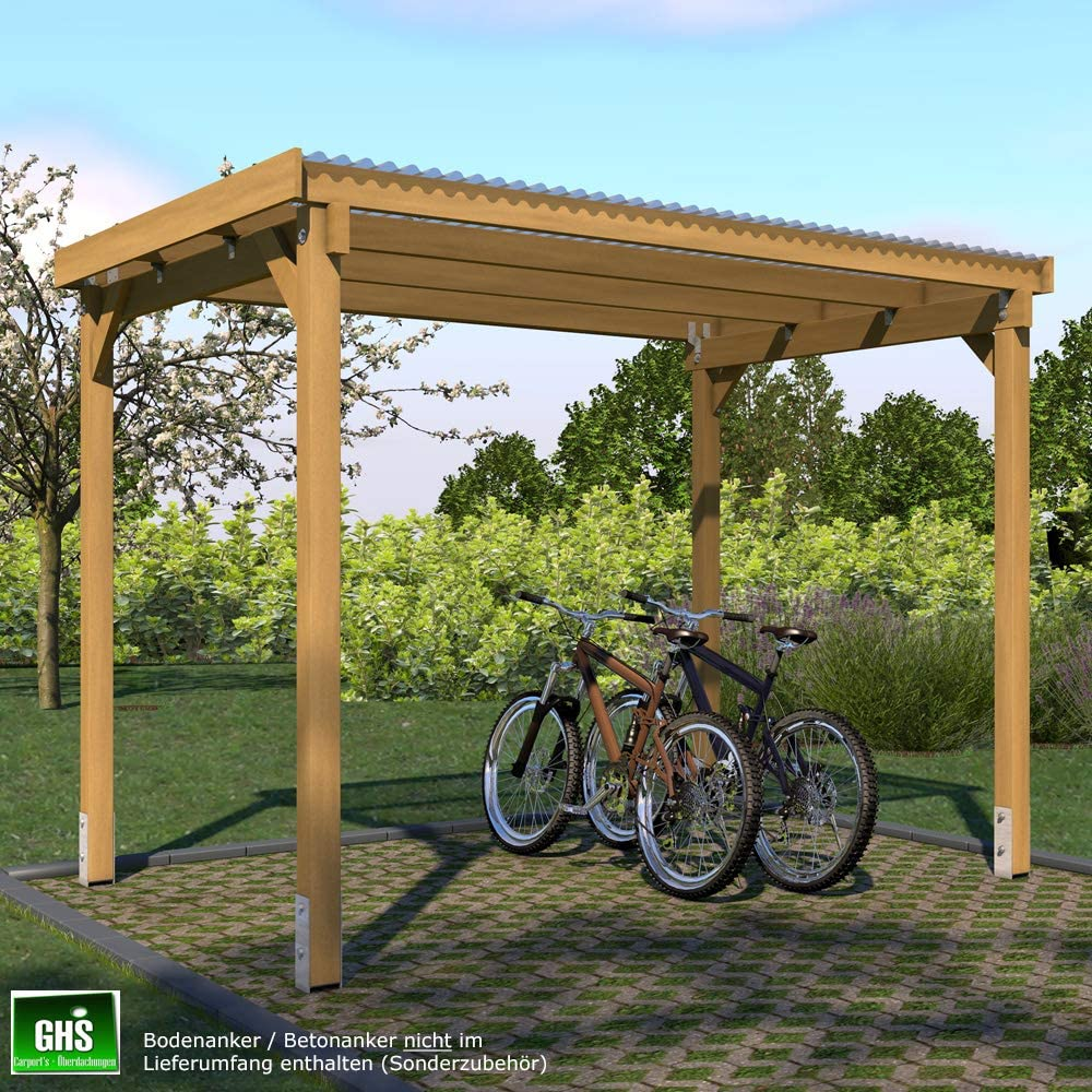 GHS Refugio de 3 x 2 m, überdachung para jardín Dispositivos + ...