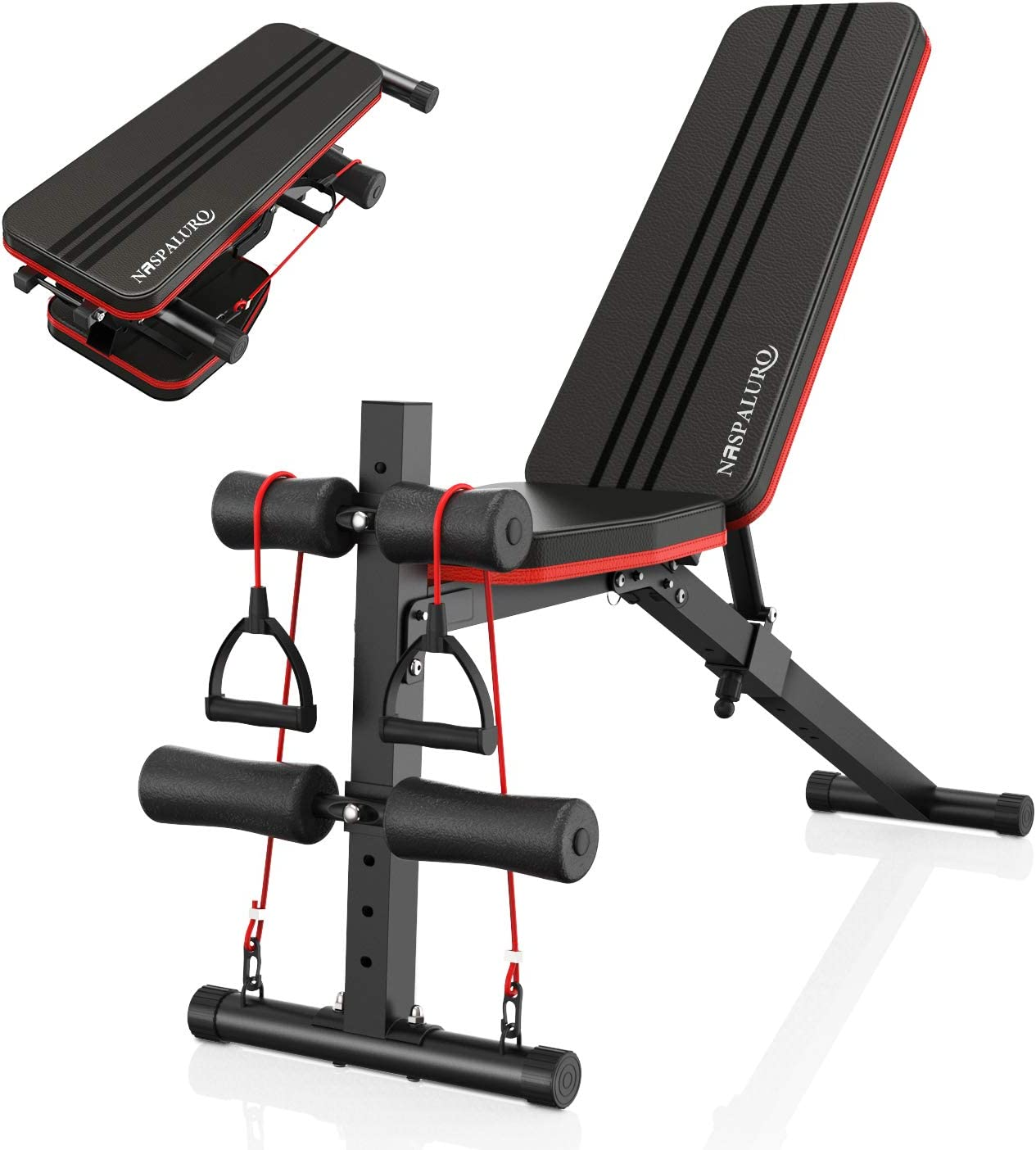 Naspaluro Adjustable Weight Bench