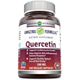 Amazing Formulas - Quercetin 500 Mg * Supports Cardiovascular Health, Helps Improve Anti-Inflammatory & Immune Response, Supports Healthy Ageing And Overall Well-Being * (240)