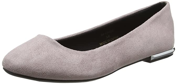 Womens Kounting Metal Heal Point Closed Toe Ballet Flats New Look lrb7yLasC