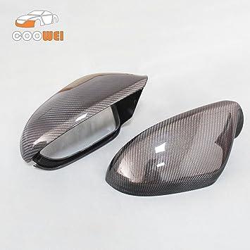 Para A6 S6 RS6 C7 de fibra de carbono carcasa para espejo retrovisor Espejo retrovisor lado espejo 2012 - 2016 1 par de repuesto sin Lane Assit: Amazon.es: ...