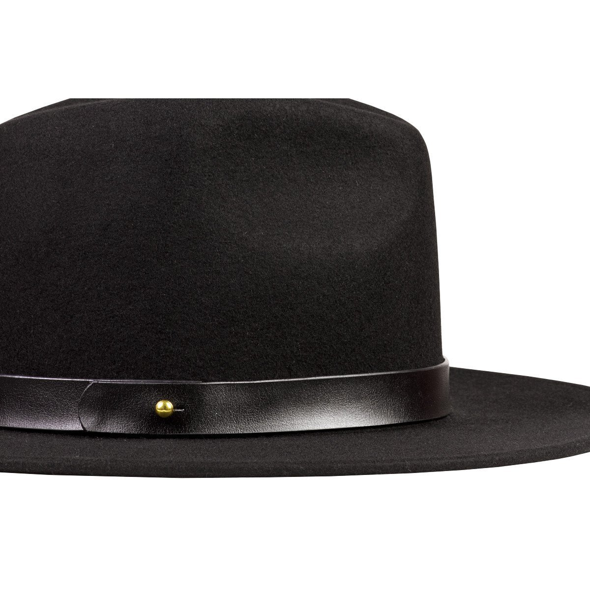 Lack of Color Women's The Prism Tall Luxe Wool Fedora (Black/Black, SM (55cm)) by Lack of Color (Image #2)