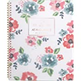 """at-A-Glance Academic Weekly/Monthly Planner, July 2018 - June 2019, 8-1/2"""" x 11"""", Floral, Badge (1124F-905A)"""