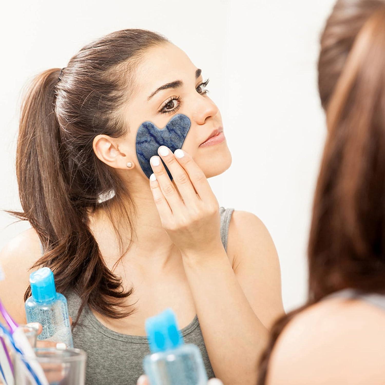 Natural Blue Gemstone - Facial Scraping