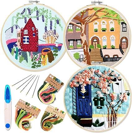 Chic Cross Stitch Needlework Kits Embroidery Starter Kit Beginner DIY Crafts Set