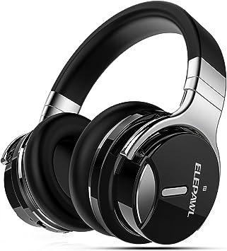 Cancelación de ruido auriculares Bluetooth inalámbricos auriculares de con micrófono 30 horas de tiempo de reproducción para iPad iPhone Samsung PC portátil Tablet Teléfono celular Smart TV y Más: Amazon.es: Electrónica