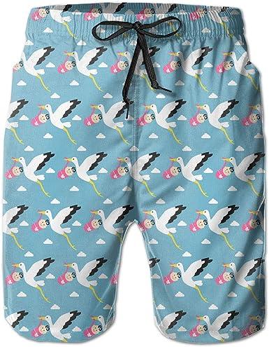 VIRTUALSHELF Mens Swim Trunks Squirrel Quick Dry Drawstring Surfing Beach Board Shorts with Pockets