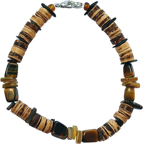8mm Carved Nugget Natural Brown Tiger Eye Gemstone Beads Half Strand