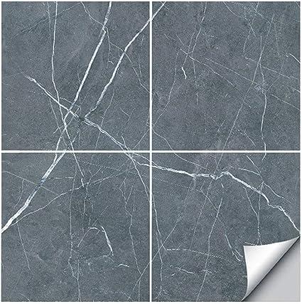 4 Piezas Pegatinas de Baldosas Cocina Azulejos Adhesivos Pegatinas de Baldosas de Azulejos para Ba/ño y Cocina 30cm x 30xm ASFINS Baldosas Adhesivas Suelo D02
