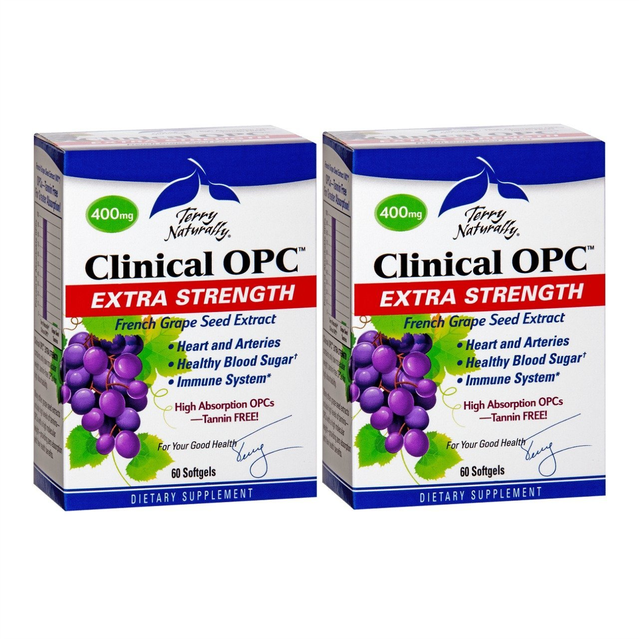 Terry Naturally/Europharma Clinical OPC Extra Strength -60 Softgels -2 Pack