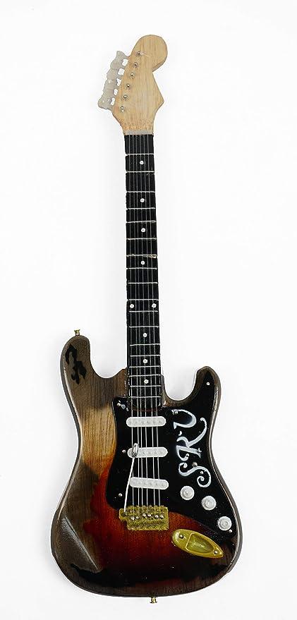 Guitarra en miniatura decorativa de guitarra Fender Stratocaster ...