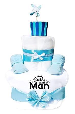 Trend Mama Windeltorte hellblau Junge L/ätzchen Babysocken Wer braucht schon Superhelden wenn man so coole Eltern hat