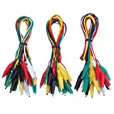 Onwon 30 Pieces Test Leads Double-Ended Alligator