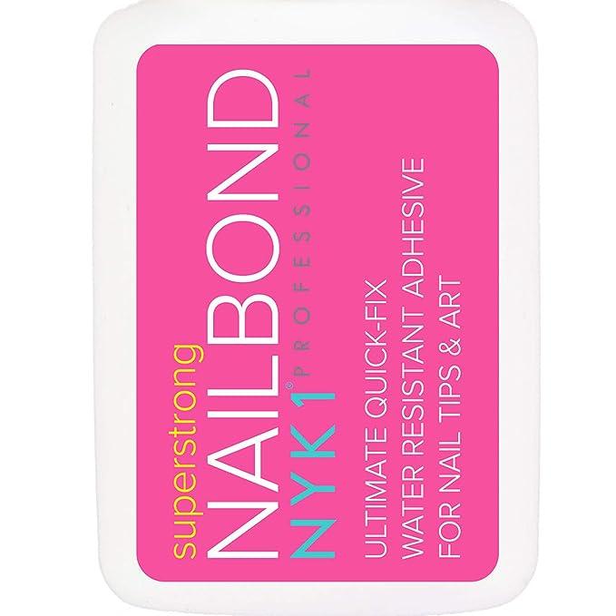 NYK1 - Adhesivo de pegamento para uñas superfuerte, con pincel, calidad profesional, ideal para arte acrílico postizo, diseño de diamantes, joyas, ...