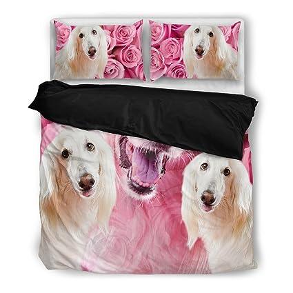 Lebrel afgano Juego de ropa de cama, diseño de perro los amantes regalos – personalizado