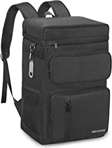 SEEHONOR Insulated Cooler Backpack Leakproof Backpack Cooler 45 Can Large Soft Cooler Bag to Picnic Travel for Men Women