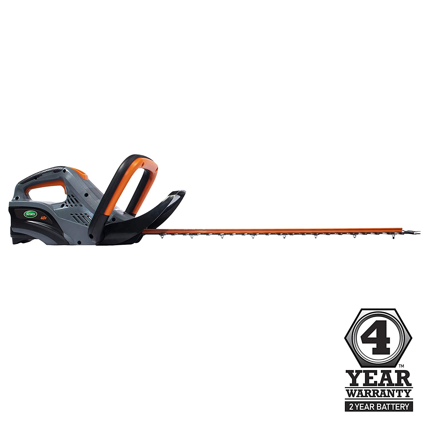 Scotts Outdoor Power Tools LHT12440S 40-Volt 24-Inch Cordless Hedge Trimmer, 2Ah Battery Fast Charger Included