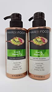 Hair Food Kiwi & Mission Fig Volume Shampoo and Volume Conditioner Set