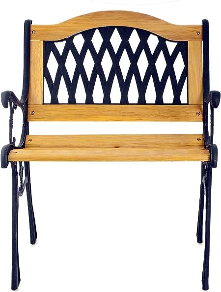 Sedie In Ghisa Da Giardino Prezzi.Home 9930800 Sedia Legno Ghisa 59x53xh75 Giardino Arredo Da