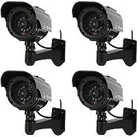 NONMON Lot de 4 Caméra de Surveillance Factice Extérieure Alimentation Solaire