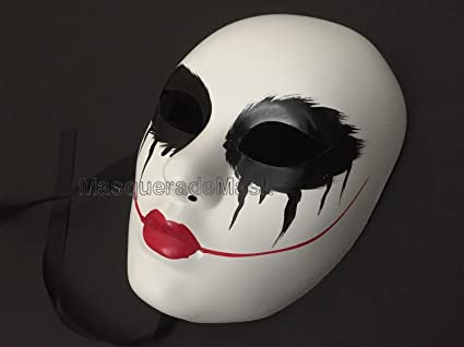 The purge mask Anarchy Purge movie Red lips women mask horror purge masked men Halloween Costume