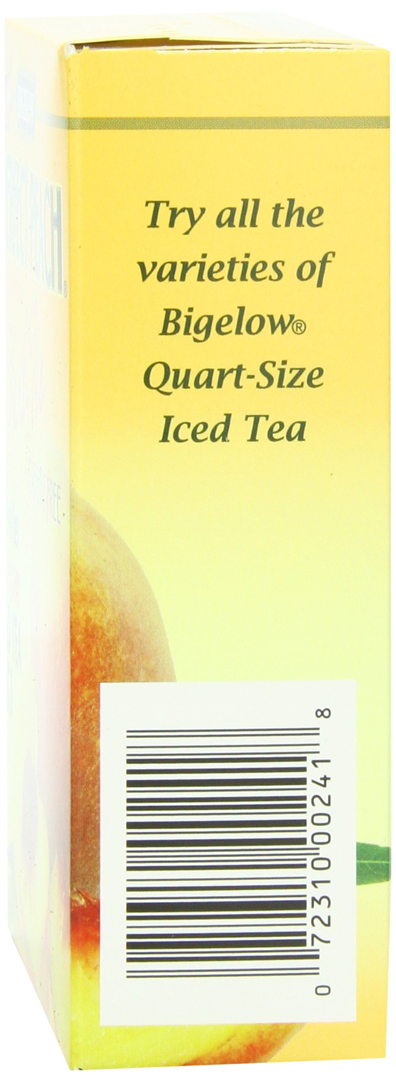 Bigelow Perfect Peach Iced Tea 8-Count Boxes (Pack of 6), 48 Tea Bags Total.  Black Tea Bags for Brewing Iced Tea, Each Bag Brews One Quart of Delicious Iced Tea