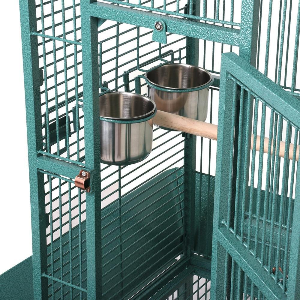 Yaheetech 62 Large Bird Cage Parrot Finch Aviary Pet Perch w//Rolling Stand Green