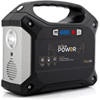 SereneLife Portable Generator, 155Wh Power Station, Quiet Gas Free Power Inverter, CPAP Battery Pack, Charged Solar Panel/Wall Outlet/Car 110V AC Outlet,3 DC 12V,3 USB Port