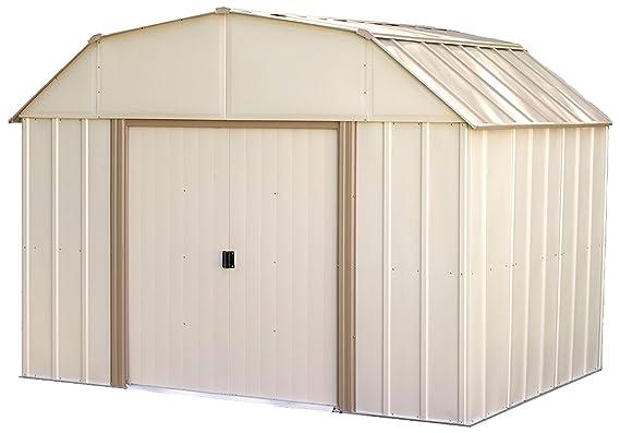 Flecha cobertizo lx108-a Lexington 10 pies por 8-Feet acero cobertizo: Amazon.es: Jardín