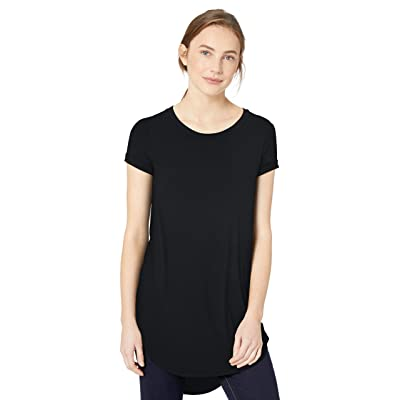 Brand - Daily Ritual Women's Jersey Short-Sleeve Open Crew Neck Tunic: Clothing