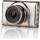 LANIAKEA ドライブレコーダー 1080P フルHD 1200万画素 3.0インチ 170度広角 高精度ナイトビジョン 駐車監視 動体検知 常時録画 循環収録 金属質感(ブラック)