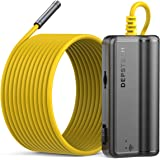DEPSTECH WiFi Borescope, 5.0MP HD Wireless Endoscope, Semi-Rigid, 16 inch Focal Distance, Snake Inspection Camera with…