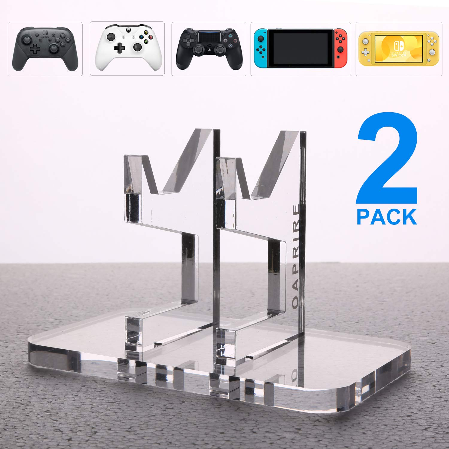 OAPRIRE Game Controller Stand Holder (2 Pack) for PS4 / Nintendo Switch / Xbox One / Steam / PC / Phone - Limited Edition PS4 xbox one Controller Accessories - Universal Fit - Easy Charging Access by OAPRIRE