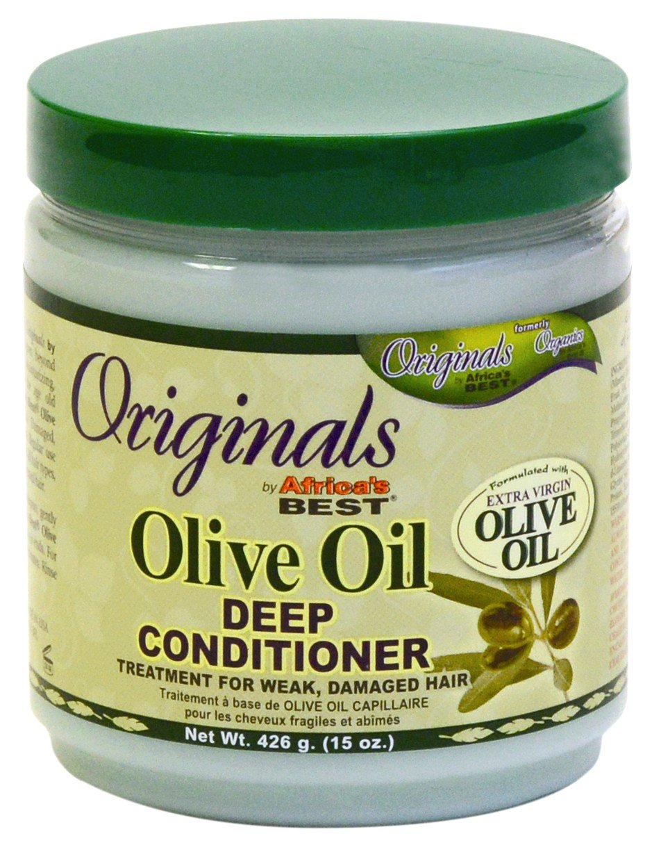 Africas Best Conditioner Originals Olive Oil Deep 15 Ounce Jar (443ml) (6 Pack)