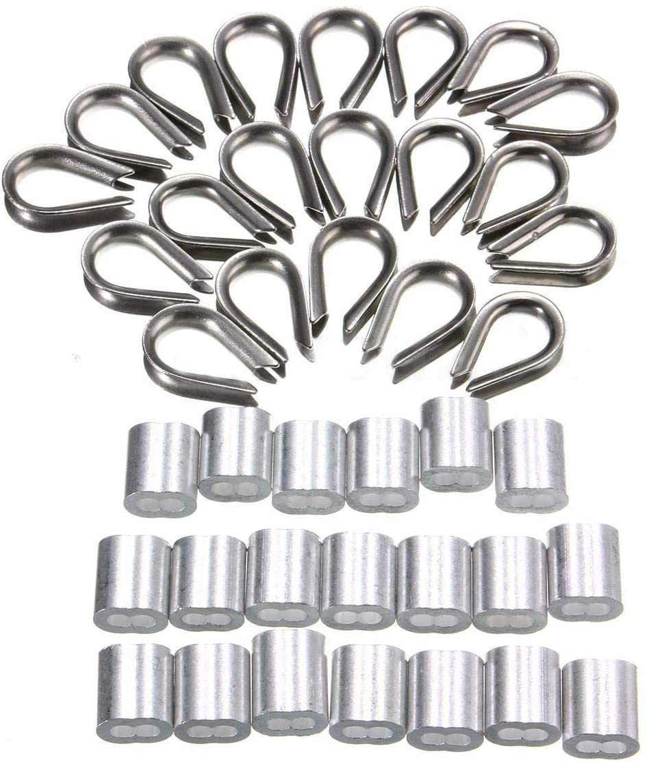 12 De Wire Rope Thimble 3mm 1//8 pouce BZP acier zingu/é