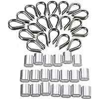 Paquete de 20 casquillos de acero inoxidable