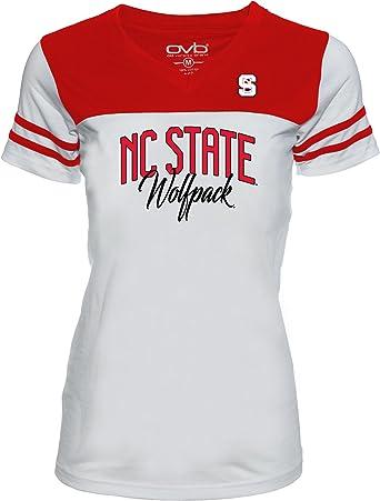Large Old Varsity Brand NCAA Maryland Terrapins Ladies Tri-Blend V-Neck T-Shirt Red