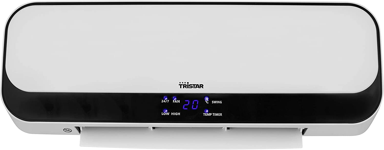 2000 watt Tristar Riscaldatore Ceramico Termoventilatore KA-5075 Bianco Telecomando Timer