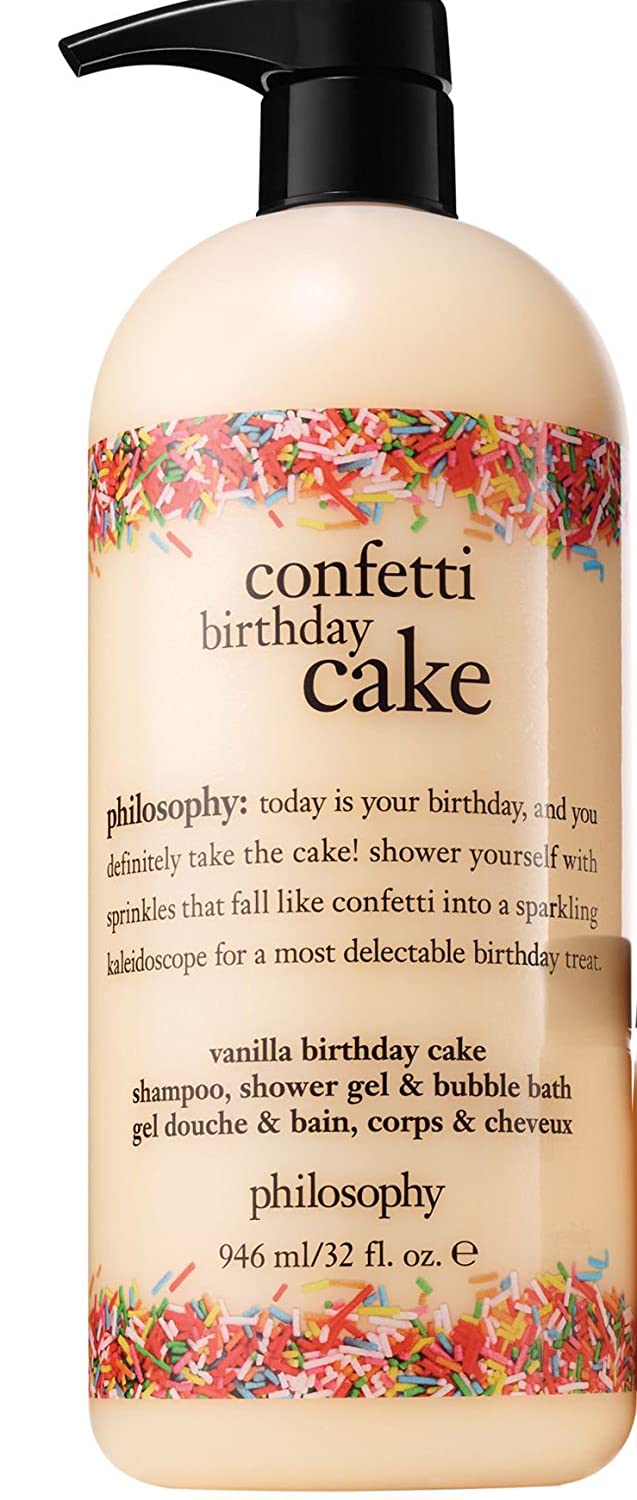 Amazon Philosophy Confetti Birthday Cake Shampoo Shower Gel And Bubble Bath Supersized 32 Ounces Beauty