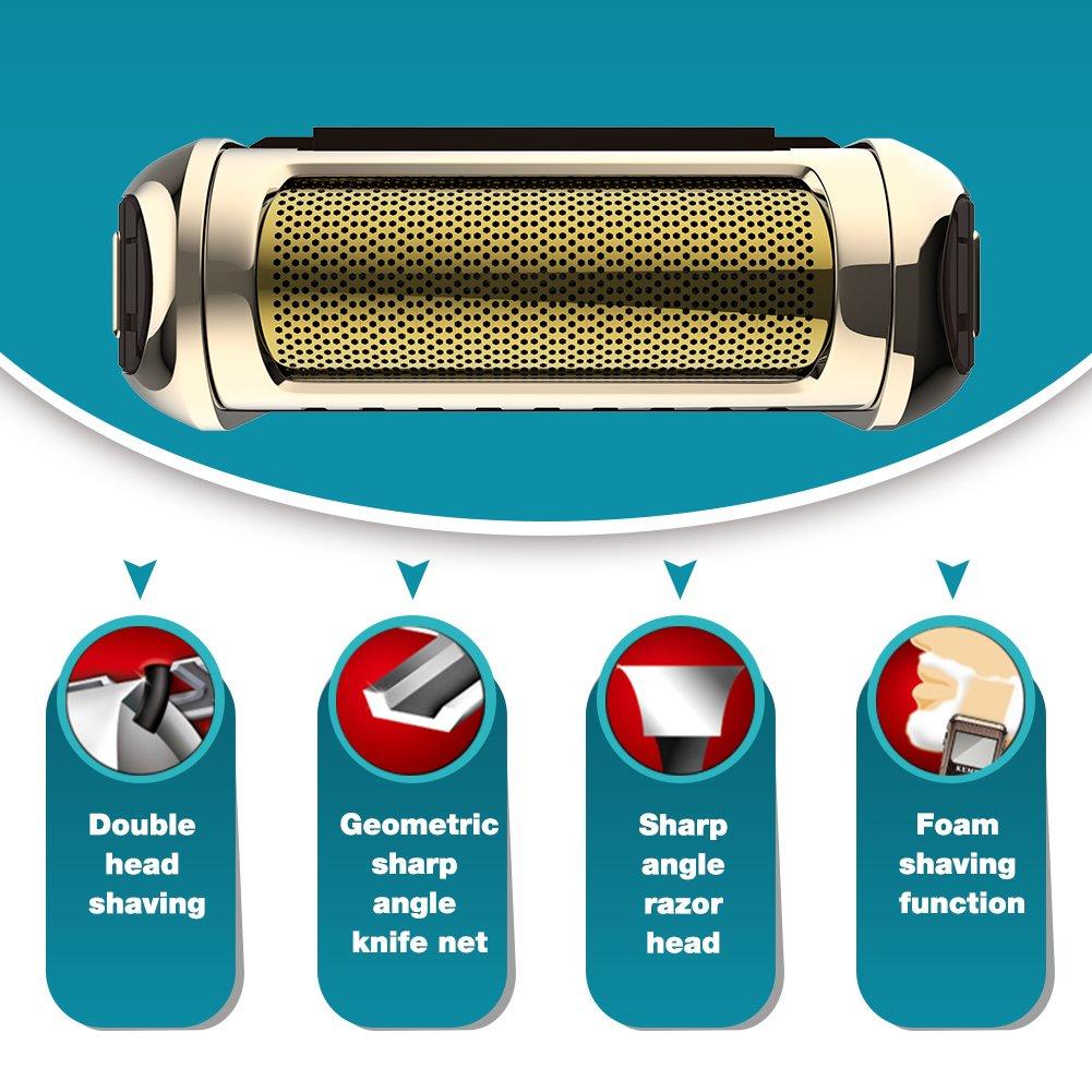 Kemei 2 en 1 hombres afeitadora eléctrica funda de piel Para Sierra  Eléctrica Máquina de afeitar batería inalámbrico Vintage km-5300 marrón   Amazon.es  ... 930467fe2c7b
