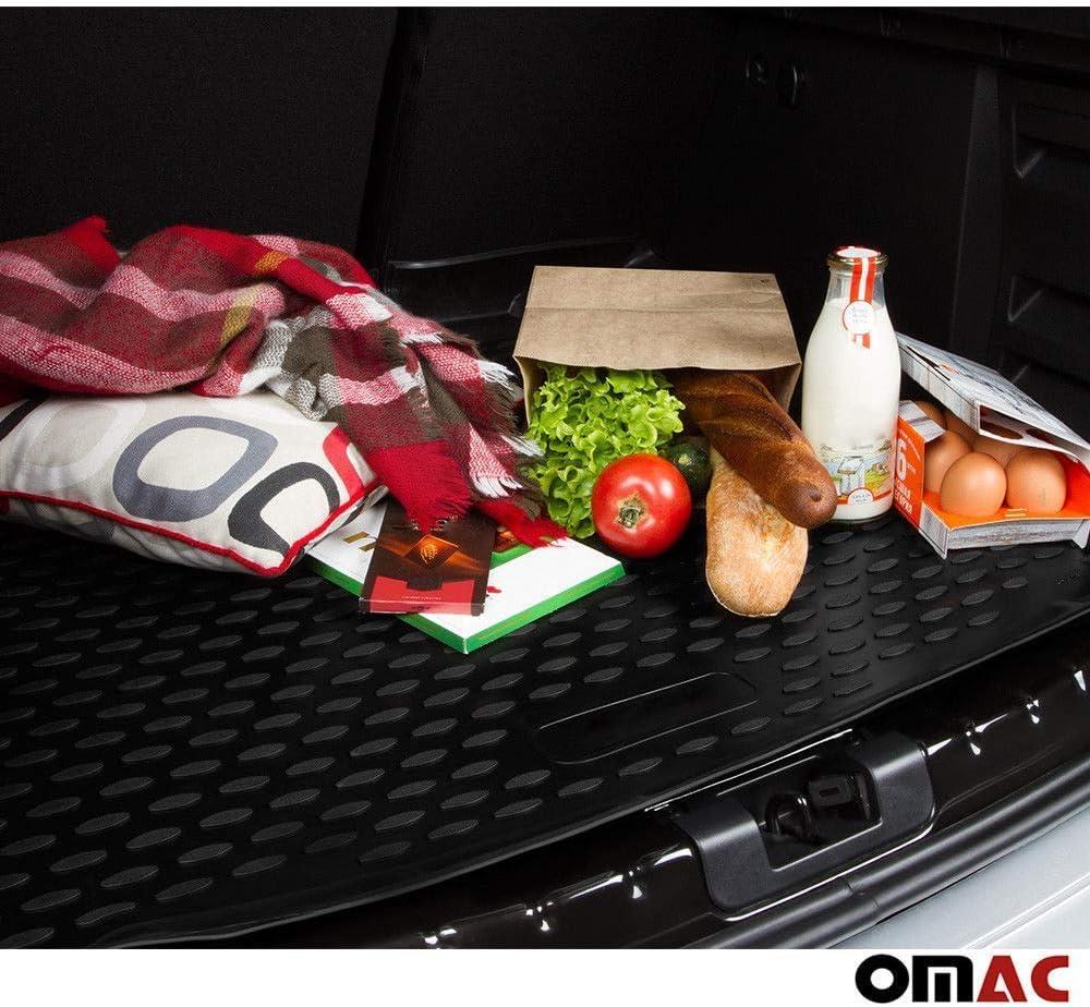 OMAC GmbH Kofferraumwanne Antirutschmatte Gummi Allwetter schwarz fahrzeugspezifisch f/ür Q2 ab 2016