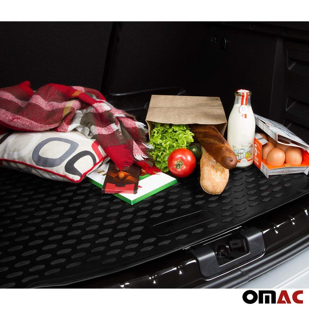 OMAC GmbH Tappetino Antiscivolo per Bagagliaio in Gomma per Outlander 2 2010-2012 Colore Nero