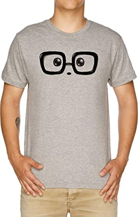 Vendax Friki Elegante Panda Ojos Camiseta Hombre Gris: Amazon.es ...