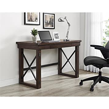 Ameriwood Home Wildwood Wood Veneer Desk, Espresso