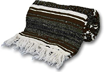 YogaAccessories Genuine Large Extra Heavy Thick Mexican Yoga Blanket and Throw
