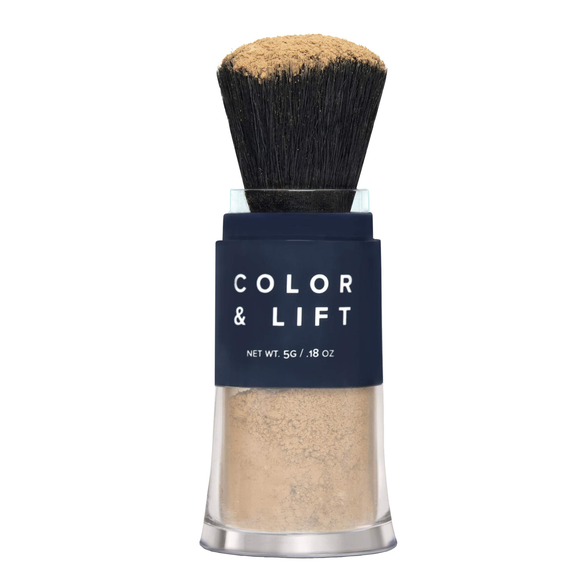 Color & Lift with Thickening Powder - Available in 8 Hair Colors - Root Cover Up - Temporary Hair Coloring Brush that Refreshes Hair - Light Brown by TRUHAIR by Chelsea Scott