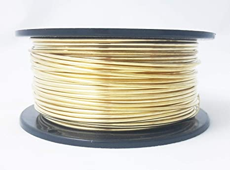34 Ft.Coil Jewelers Brass 22 Ga Solid Red Brass Soft Round Wire 1 Oz