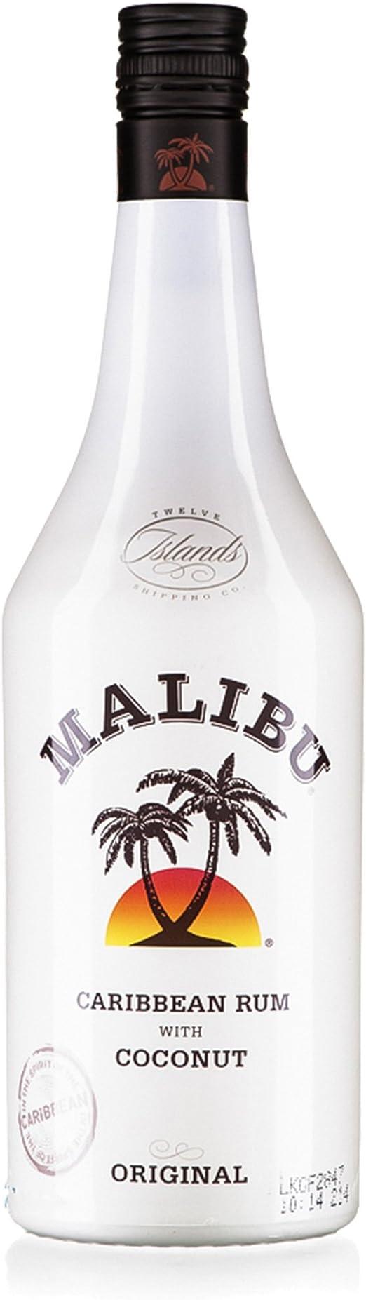 Malibu Botella de licor de coco MALIBU 70cl: Amazon.es ...