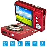 HD Mini Digital Camera with 2.7 Inch TFT LCD Display, Digital Video Cameras Students cameras (Red)- Sports, Travel, Indoor, Outdoor, Camping, Birthday Gift