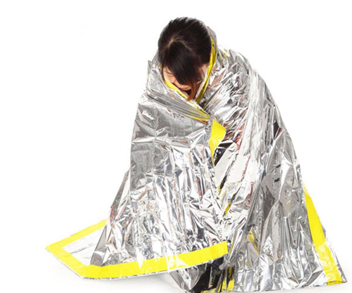 Katech al Aire Libre Manta de Emergencia Primeros Auxilios Saco de Dormir radiación protección adiabatic Lifesaving Aislamiento Mantas Supervivencia Gear ...